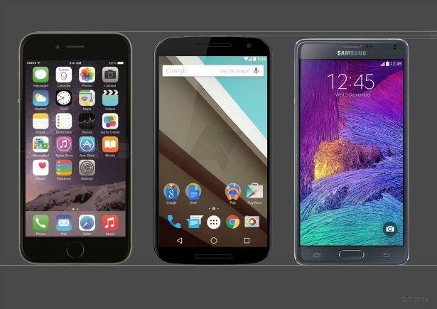 iPhone 6 Plus vs. Nexus 6 vs. Note 4