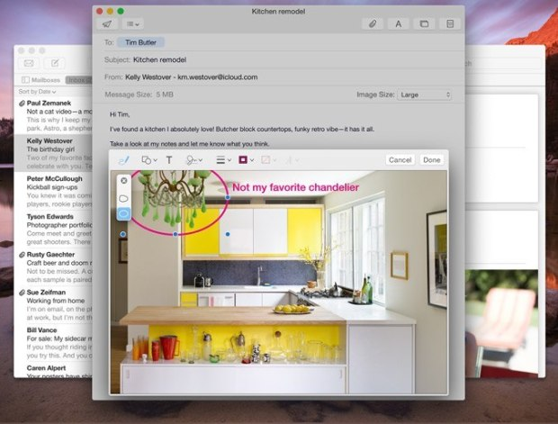 Send huge files in OS X Yosemite Mail with Mail Drop.