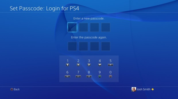 Create a passcode on the PS4 to control who can access the console.