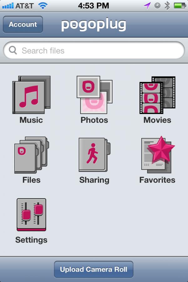 Pogoplug Mobile Screenshot