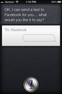 How to post to Facebook with Siri