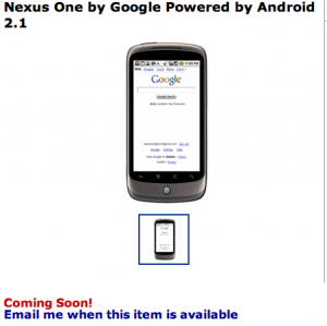 Nexus One at Walmart