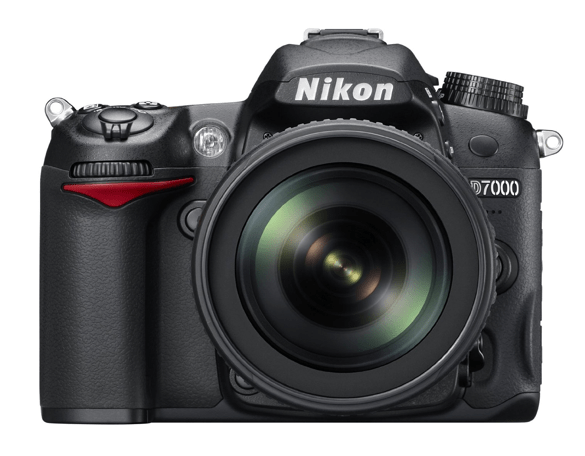 Nikon D7000 with kit lens