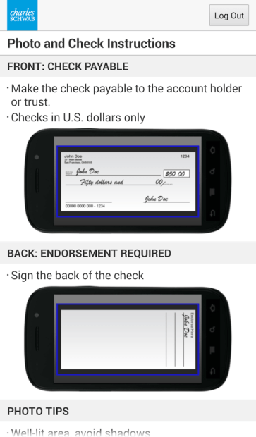 Android Remote Check Deposit Apps