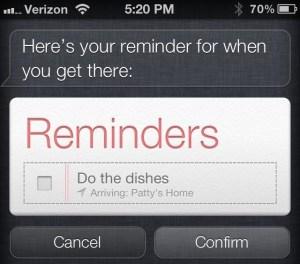 Siri Contact location