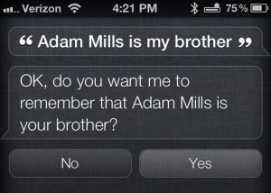 Siri Relationships