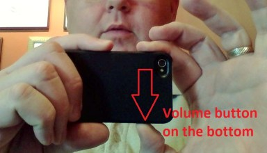 Holding camera with volume buttons on bottom helps keep fingers out of the shot