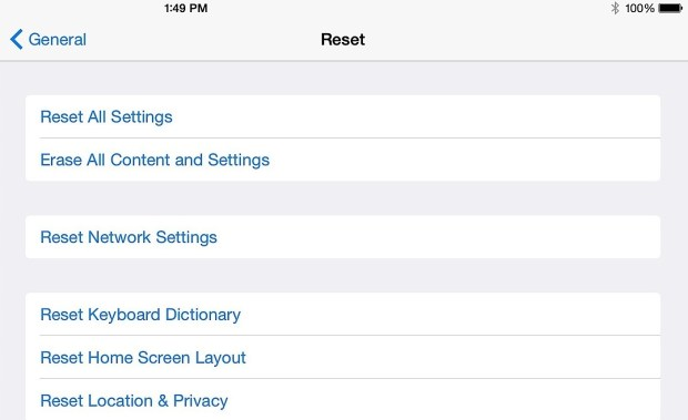 If all else fails you can try resetting all settings.