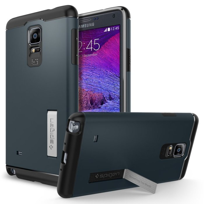 Spigen Slim Armor Note 4 Case with Kickstand