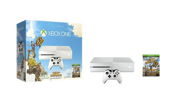 Grab a white Xbox One with the Sunset Overdrive bundle.