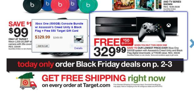 Target XBox One Black Friday Ad