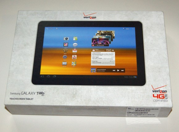 Verizon Wireless Samsung Galaxy Tab 10.1 box