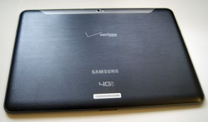 Verizon Wireless Samsung Galaxy Tab 10.1 back