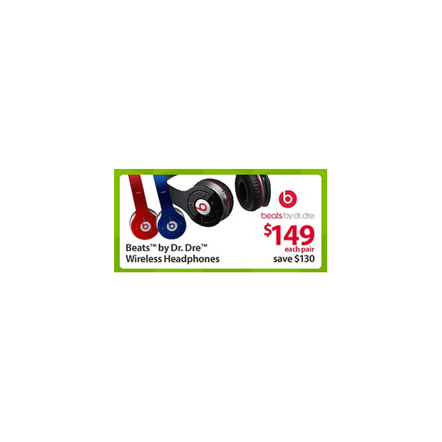 Beats By Dr. Dre Wireless Headphones Black Friday Deal at Walmart