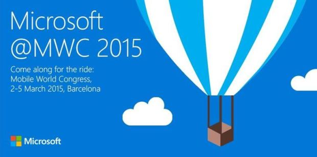 A Mobile World Congress 2015 invitation sent by Microsoft to Cnet.