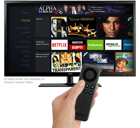 amazon fire tv stick user interface