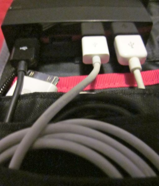 AViiQ Portable Charging Station USB cables plugged into hub