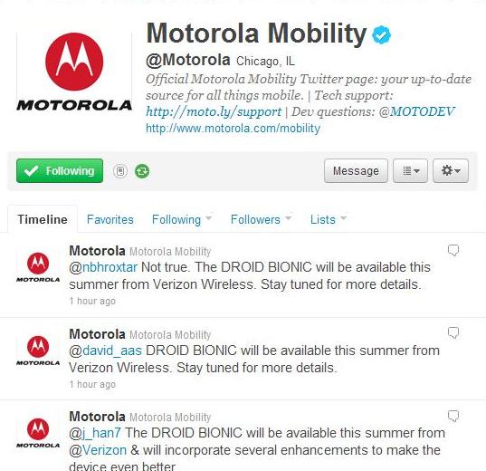 Motorola Twitter