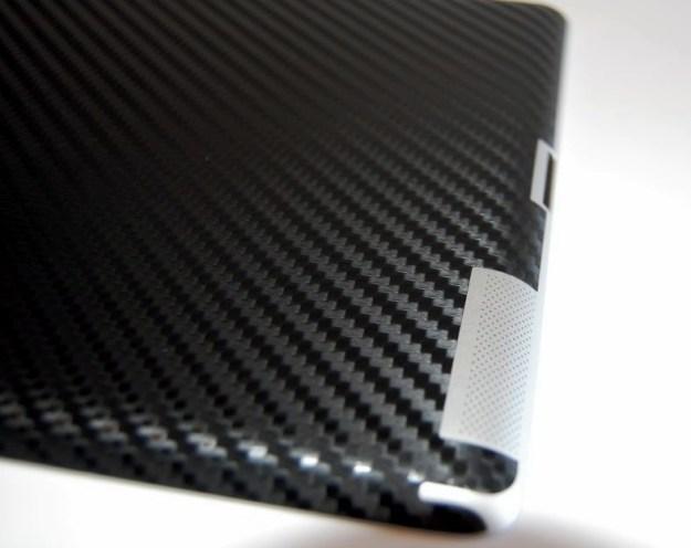 bodyguardz armor carbon fiber ipad skin closeup