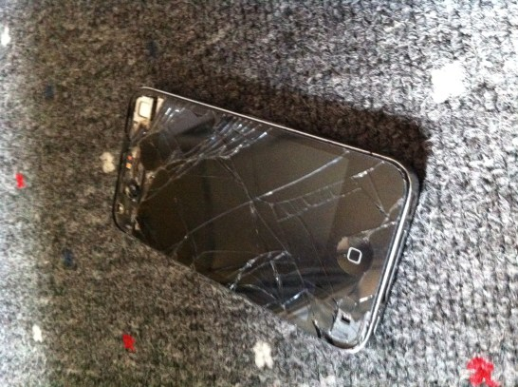 broken iPhone 4