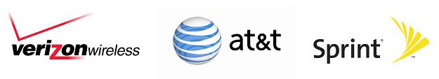 Sprint AT&T and Verizon Logos