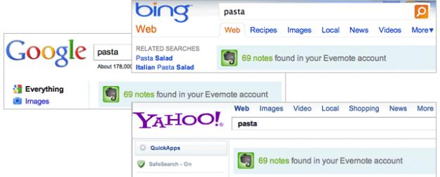 chrome-evernote search