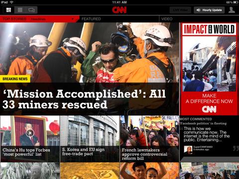 CNN App for iPad
