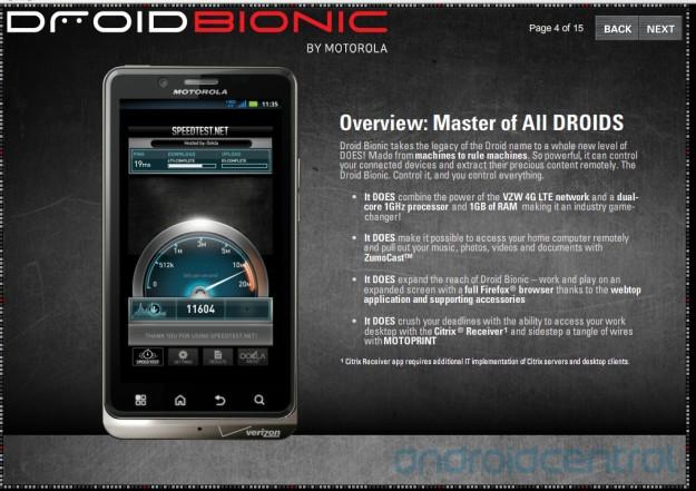 leaked training manual reveals tons of droid bionic features rh gottabemobile com Motorola Bionic Accessories Verizon Motorola Droid