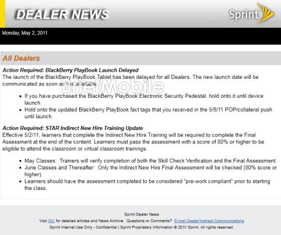 Sprint BlackBerry PlayBook