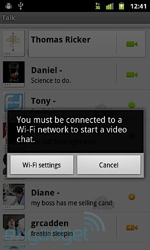 T-Mobile Nexus S Google Talk