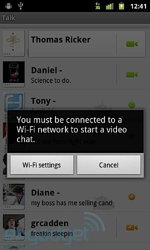 T-Mobile Nexus S Google Talk
