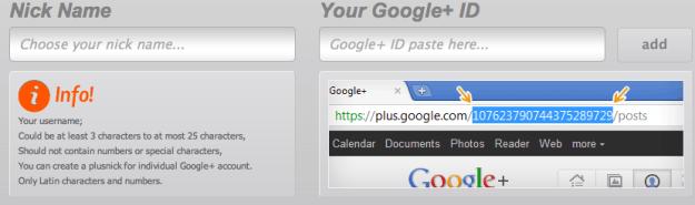 gplusto googleplus url shortener