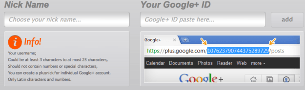 gplusto googleplus url shortener