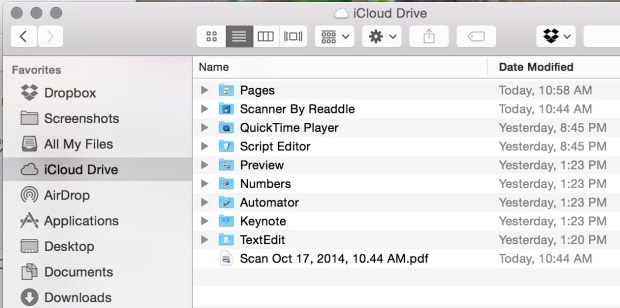 Look for iCloud Drive in your Finder on Mac.