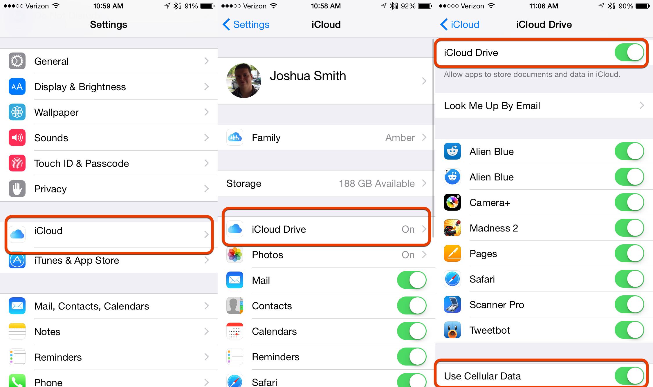 iphone x backup settings