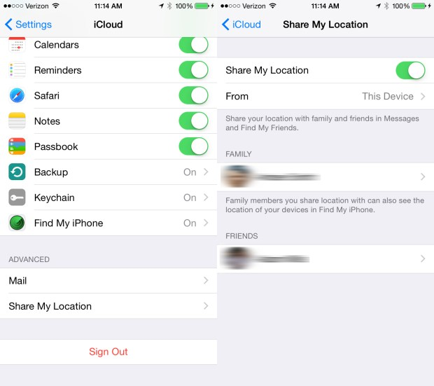 Manage iCloud Location Sharing.