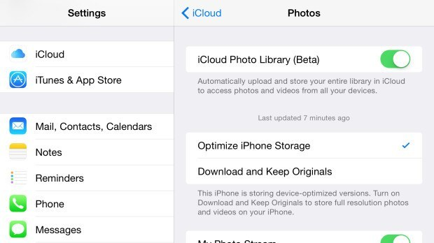 Use iCloud Photo Library to keep your iPhone photos in sync across all devices.