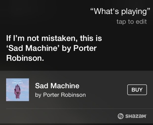 Use Siri to find out what song is playing and buy it.