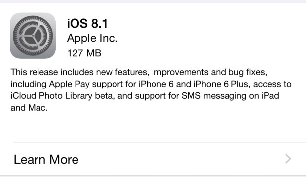 Here is how long the iOS 8.1 install takes.