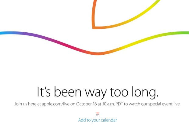 Apple plans an iPad Air 2 event live stream.