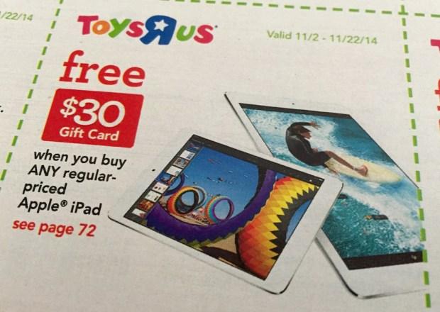 iPad Air 2 deal at Toys R Us.