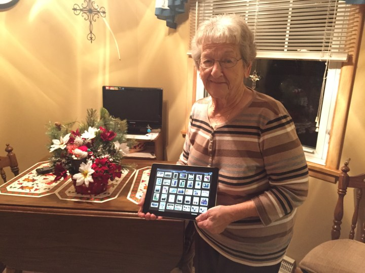 A very happy Grandma with her fixed iPad 2.