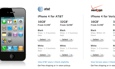 iPhone 4 ship times