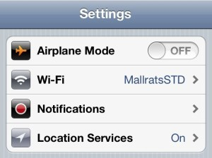 iPhone 4S Better Battery Life - Turn off Wifi