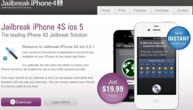 iPhone 4S Jailbreak ripoff