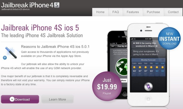iPhone 4S Jailbreak ripoff