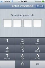 iPhone 4S Settings - Passcode