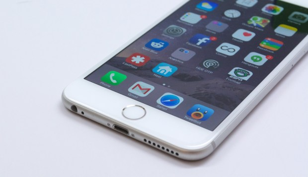 The iPhone 6 Plus is fast and handles any apps we try on it.