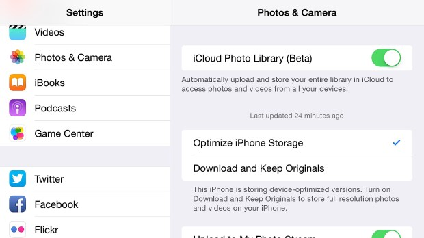 Backup all your iPhone 6 Plus photos in the cloud.