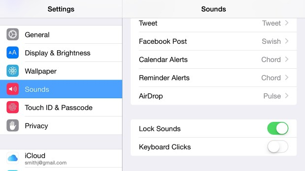 Stop annoying iPhone 6 Plus keyboard clicks.